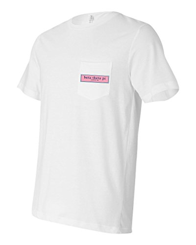 Beta Theta Pi Fraternity Pocket Shirt Founded in Oxford Oh (White, XL) -