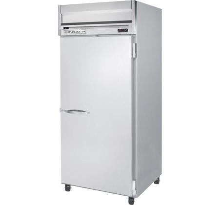 Beverage-Air HRP1W-1S Horizon Series One Wide Section Solid Door Reach-In Refrigerator 34 cu.ft. capacity Stainless Steel Front and Sides Aluminum
