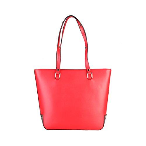 CAVALLI CLASS Shopping Bag, Donna Rosso/Leopardo