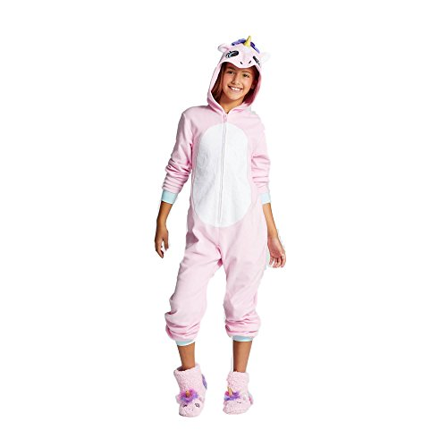 5d5430689 C   J Girls  Unicorn Hooded Blanket Sleeper - Cat   Jack Pink XS