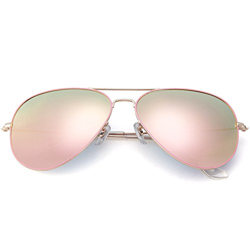 MT MIT Classic Aviator Polarized Mirrored Lens Sunglasses for Men Women 100% UV - Aviator Reflective Sunglasses