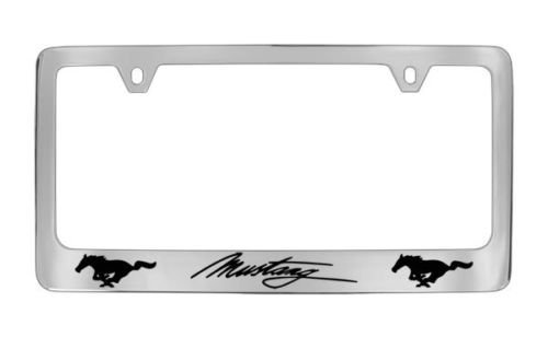 Ford Mustang Logo Chrome License Plate Frame (metal) Ford Mustang Logos