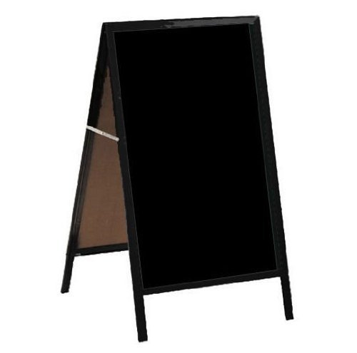 Aarco Products MA-11 A-Frame Sidewalk Board Black Markerboard Red Oak Frame ()