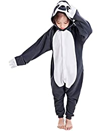 Unisex Children Sloth and Flying Squirrel Pyjamas Halloween Kids Onesie Costume