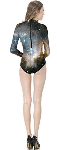 Thenice Bagno Con Star Lunga Donna Da Intero Manica Sky Costume vwqvErx6