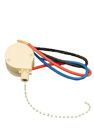 Leviton 1689-50 Pull Chain Switch, 3 Speed, 4 Position, 3A-250V AC ...