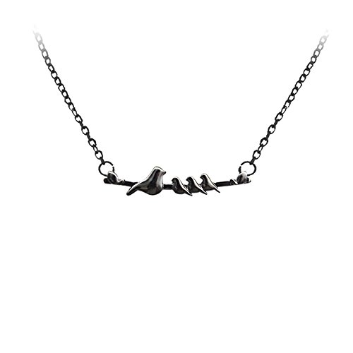 Pendant Mama 1 (AOASK Cute Mama Birds on a Branch Clavicle Necklace,One Two Three Pendant Jewelry for Mother's Day Gift (three bird))