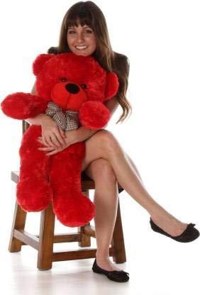 VAISHNO Stuffed Spongy Huggable Imported Teddy Bear   60 cm,  Red