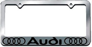 Audi License Plate Frame with Logo Chrome