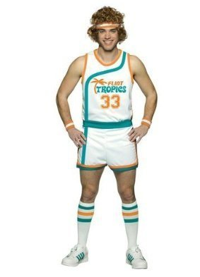 Costume Tropics Pro Semi Flint (Rasta Imposta Plus-Size Jackie Moon Official Flint Tropics Uniform, Multi, Plus)