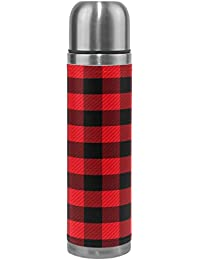 Wamika Checkers Plaids Vacuum Insulated Stainless Steel...