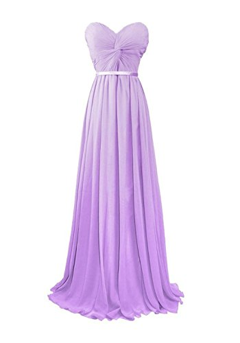 Dresses Evening Long Bridal Gowns Sweetheart Women's Annie's Bridesmaid Lavender Chiffon Ow7X0fwYq