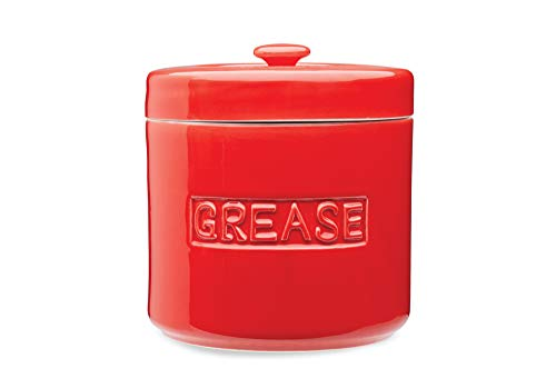 Fox Run 48765 Grease Container, 5 x 5 x 5.5 inches, Red