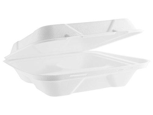 Vegware VB09-3 9in 3-comp Bagasse Lunchbox (Case of 200)