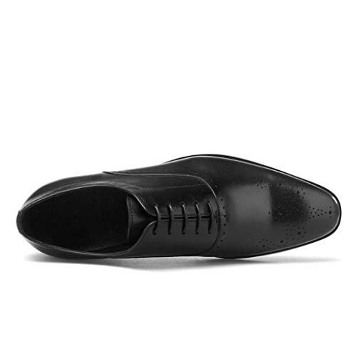D'affaires Couche Bottes Chevelu Hommes Pleine Pour Première Lacet Noir Cuir Chaussures Petits En Flysxp De FawR8Rq