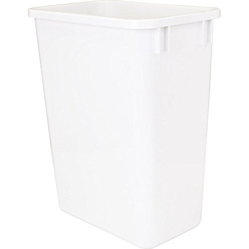Hardware Resources CAN-35W Plastic Waste Container, White (Plastic Bins Waste)
