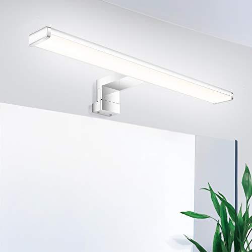 Oeegoo Ip44 Led-spiegellamp, 40 cm, waterdicht, flikkervrije wandlamp, make-uplamp, kastlamp, 8 W, 650 lm, neutraal wit…