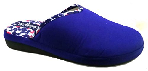 Turquesa Mujer Azul Por Eu 38 Para Estar Zapatillas Casa De Algodón Fonseca UFBwBqz