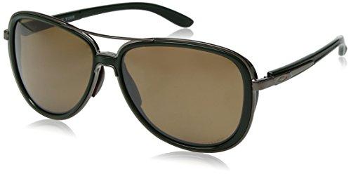 Oakley Women's Split Time Polarized Aviator Sunglasses, Forest, 58.2 mm from Oakley