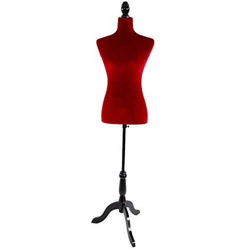 Fantastic Deal! Valuebox Female Mannequin Torso Women Dress Form with Wooden Tripod Stand 34 27 35...