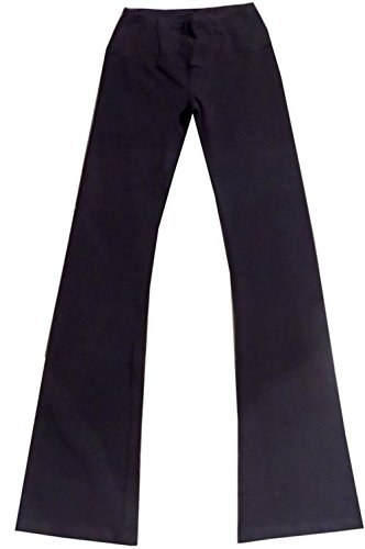 Hard Tail Flat Waist Flare Yoga Pants - Black (S, Black)