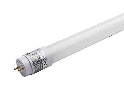 """NaturaLED 15W 48"""" T8 5000K Glass LED Bulb, Ballast Bypass"""