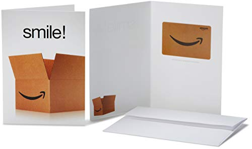 Amazon.com Gift Card in a Greeting Card -  Smile! Design