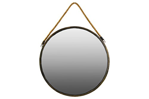 Urban Trends Metal Wall Mirror Round, Gold (Collection Mirror Living Urban)