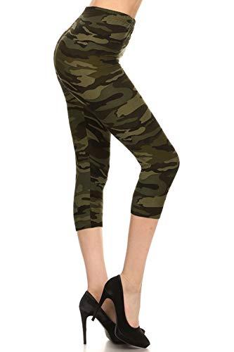 N021-CA-PLUS Camouflage Army Capri Print Leggings ()