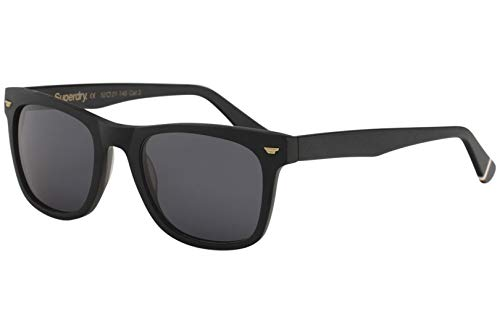 Superdry Men's SDS San 127 Matte Black Fashion Square Sunglasses ()