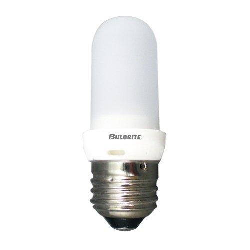 Frost Tubular Halogen Light Bulb - Bulbrite Q75FR/EDT 120-Volt Halogen JDD Type Tubular Medium E26 Bulb, Frosted, 75-Watt