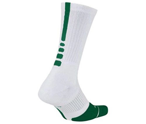 Nike Elite Crew 1.5 Team Basketball Socks Small (Women Size 4-6) White, Green SX7035-104