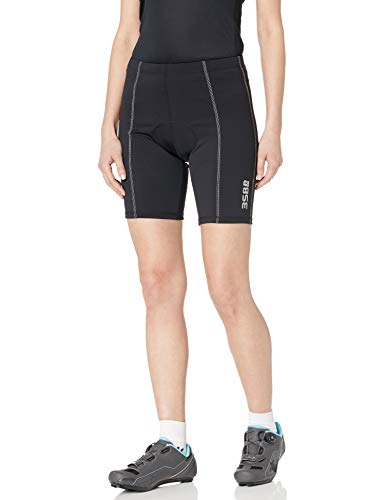 3SB Triathlon Shorts, Women's Tri Shorts, Padded Cycling Shorts with Red butterfly, Bicycle Riding Pants Perfect for Training, Black Medium ()