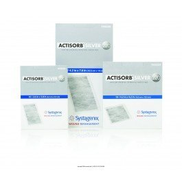 53190220 - ACTISORB Silver Antimicrobial Dressing 4-1/8 x 7-1/2 by Systagenix Wound Management