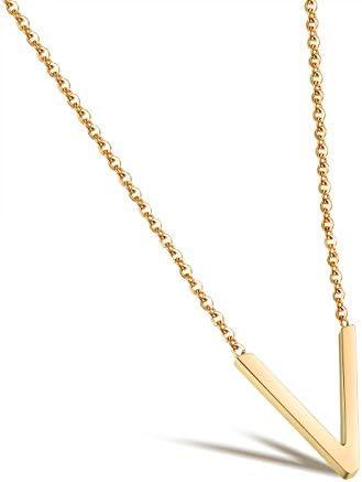 ジュエリー レディースネックレス ゴールド V字 ペンダント トップ ステンレス アクセサリー 女性 プレゼント