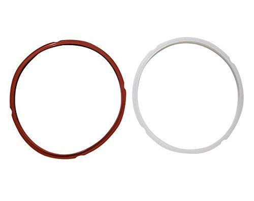 Pot Sealing Rings 2 Pack For Quart 6 Instant Pot IP-LUX60 & IP-DUO60 Pressure Cookers | Silicone Instant Pot Sealing Rings, Dishwasher Safe | Red Ring For Savory Foods & Clear For Sweets