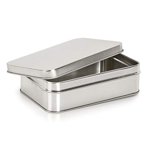 Darice Unfinished Rectangular Tin Box with Lid