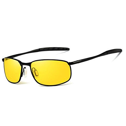 FEIDU Sport Polarized Sunglasses for Men Stylish HD Lens Metal Frame Men's Sunglasses FD 9005 (Yellow/Black, - Trend Yellow Sunglasses Lens