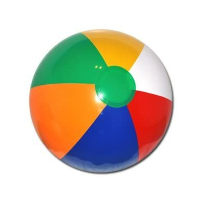 20'' Multi-Color Beach Ball: Sports & Outdoors