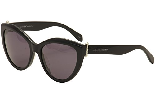 Alexander McQueen - AM0003S, Cat Eye, acetate, women, RED/BROWN SHADED(004), (Red Frame Shaded Brown Lenses)