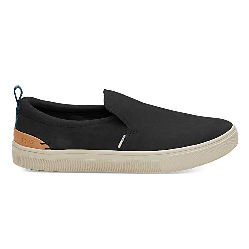 TOMS Women's TRVL LITE Slip-On Black Suede 9 B US (Toms Mesh Shoes)
