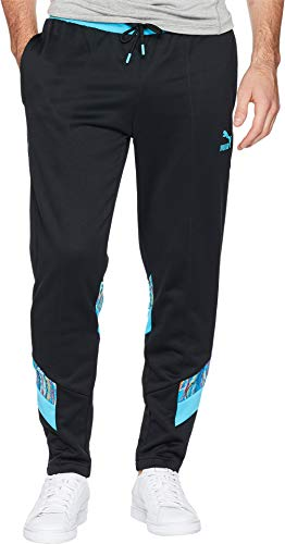 (PUMA Men's Puma X Coogi Track Pants Puma Black/Blue Atoll Medium 31)