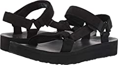 Add a little luxury to your summer look with the sporty chic style of the Teva Midform Universal Leather sandal. Rich supple leather upper. Open toe construction prevents water from pooling. Universal strapping system offers an excellent secu...