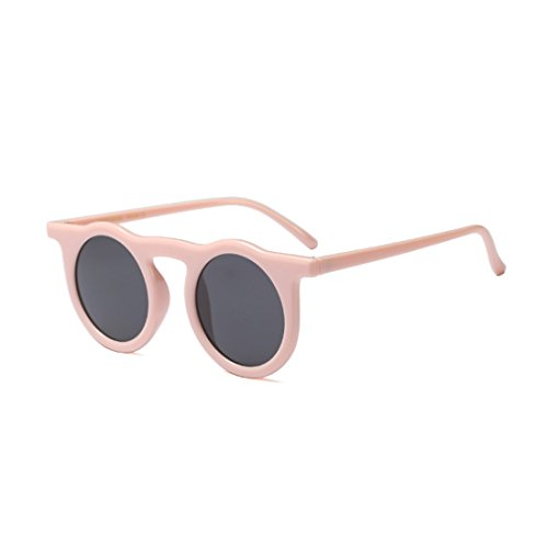 de Aiweijia Rosa mujer Gris resina redondo sol Gafas marco Vintage 5q1CqBnw
