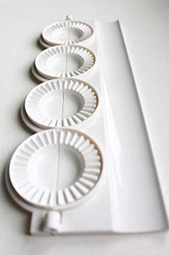 pierogi, dumpling, uszka press/maker. Makes four pierogies at once (Machine Dumpling Maker)