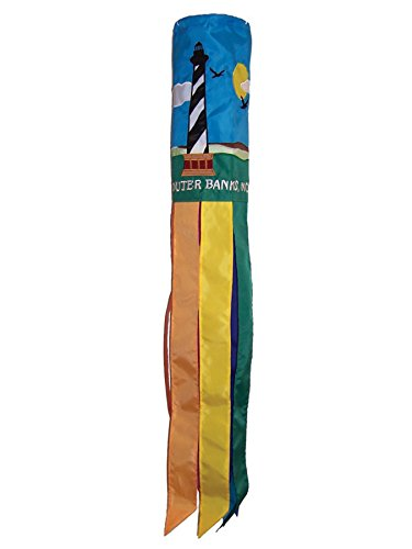 Outdoor Appliqued Windsock (In the Breeze Outer Banks Windsock, 40-Inch)