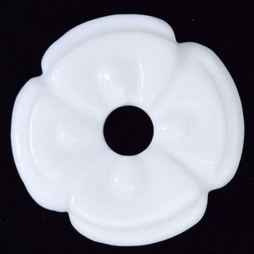 45mm White Jade Carved Donut Pendant - Pendant Donut 45mm