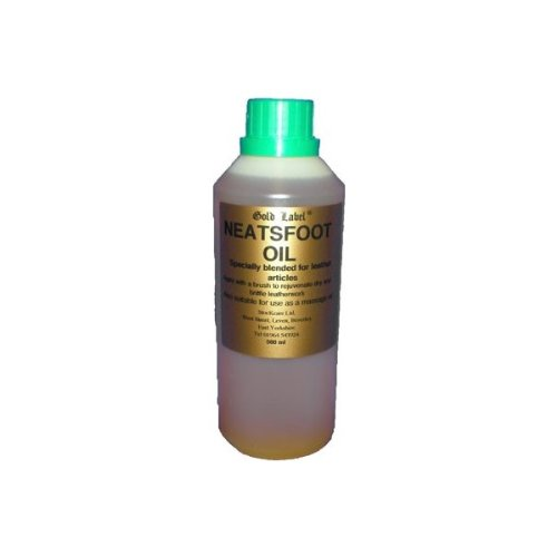 Gold Label Neatsfoot Oil, 500ml - Softens and treats leather