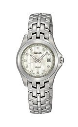 (Seiko Diamonds Bracelet Mother-of-pearl Dial Women's watch #SXDC11)