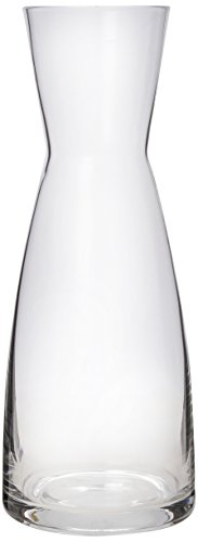 (Bormioli Rocco Ypsilon Wine Carafe - Elegant Clear Glass Carafe For Water, Juice, Milk, Coffee, Iced Tea - Wide Mouth Serving Decanter Dispenser For Restaurants & Home Use - Made In Italy)